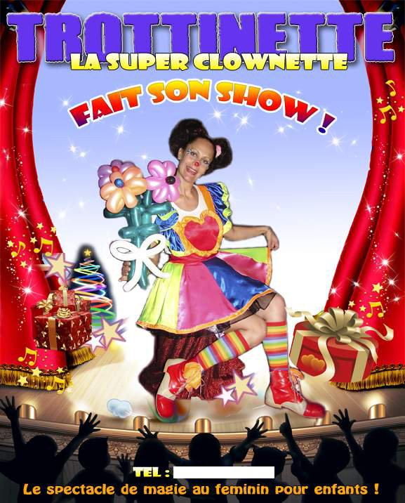 affiche spectacle de noel magie clowns