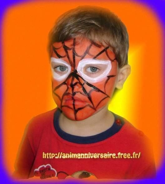 maquillage garcon spiderman. Black Bedroom Furniture Sets. Home Design Ideas